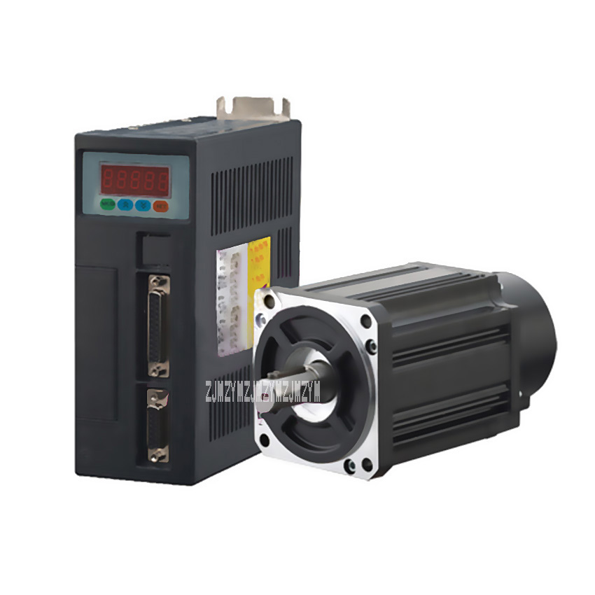 New Arrival 750W AC Servo Motor 220V 19mm 0.75KW AC SERVO MOTOR & DRIVER 3000RPM 2.39N.M 80ST-M02430 Matched Servo Driver Hot 2 sets ac servo motor 4n m 1000w with driver and cable 80st m04025