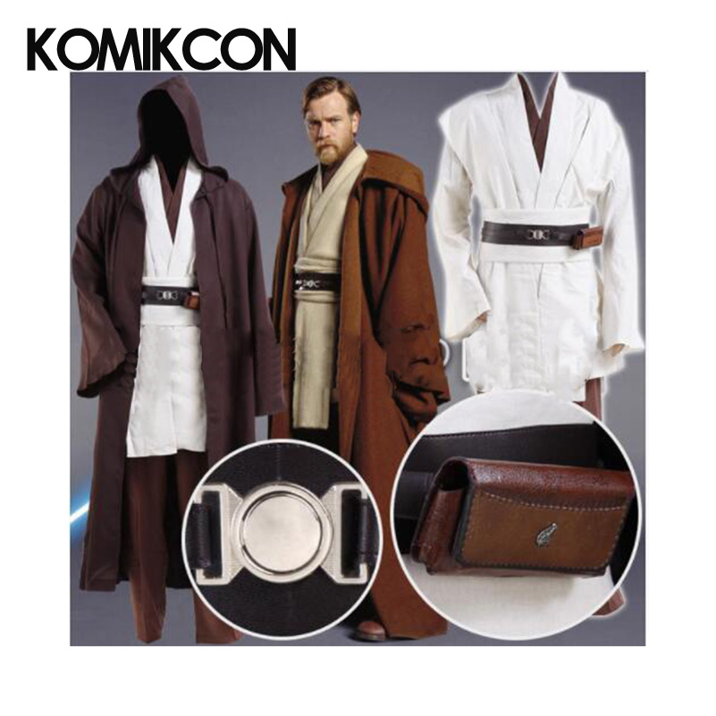 Star Wars Robe Obi Wan Kenobi Jedi Cosplay Costume Original Robes Tunic Halloween Cloak Uniform Full Set
