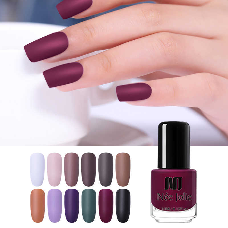Detail Feedback Questions about NEE JOLIE Matte Dull Nail Polish ...