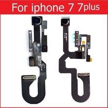 Véritable nouvelle petite caméra de face pour iPhone 7 7 plus caméra frontale avec capteur de lumière de proximité et remplacement de câble flexible de Microphone