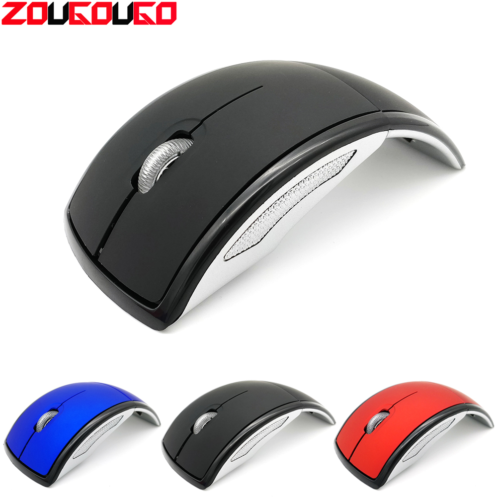 USB Wireless Mouse 2.4G Computer Mouse Foldable Travel Notebook Mute Mouse Mini Mice USB Nano Receiver For Laptop PC Desktop