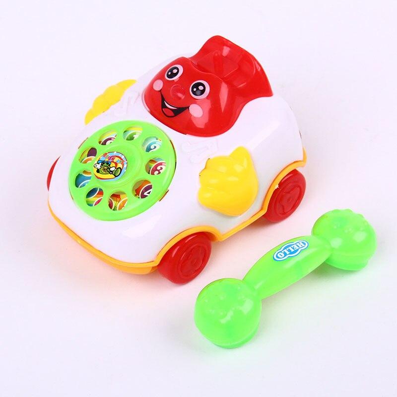 Children Sound Toy Pull Line Music Car Phone Educational Intelligence Developmental Toys Kids Gift FJ88