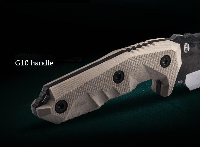 HX OUTDOORS zsoldosok nagy keménységű egyenes kés D2 acél G10 - Kézi szerszámok - Fénykép 5
