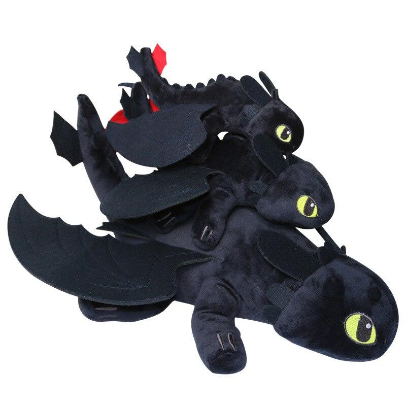 10pcs Lot 25cm 30cm 40cm How To Train Your Dragon 2 Toothless Night Fury plush toys