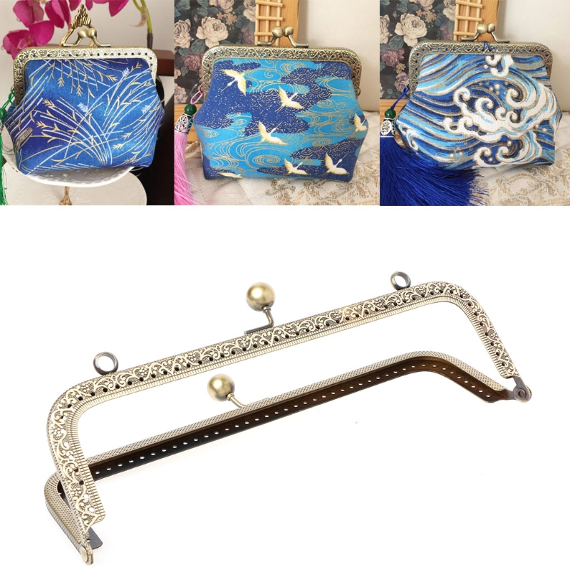 THINKTHENDO 1PC Metal Frame Kiss Clasp Arch For Purse Bag Accessories DIY Craft 20.5cm