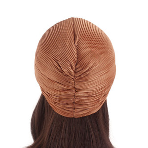 Image 4 - Casquette en Satin pour femmes musulmanes, Turban pour dormir, couvre chef, bonnet pour patients atteints de Cancer, accessoires de perte de cheveux