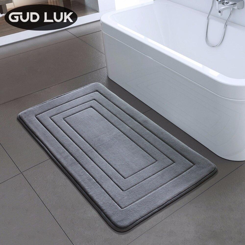 คุณภาพสูง Bath Mat ห้องน้ำห้องนอนลื่นเสื่อโฟมพรมพรมสำหรับห้องน้ำห้องครัวห้องนอน 40x60 ซม.50x80 ซม.ZA-003