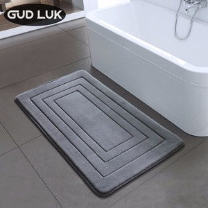 High Quality Bath Mat Bathroom Bedroom Non-slip Mats Foam Rug Shower Carpet for Bathroom Kitchen Bedroom 40x60cm 50x80cm ZA-003(China)