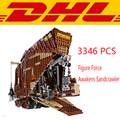 2017 LEPIN 05038 3346Pcs Star Wars Force Awakens Sandcrawler Model Building Kits Blocks Brick Compatible Toys For Children 75059