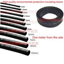 Environmental protection heat shrinkable tube diameter pipe insulation sleeve black nickel film electronic line package shrink