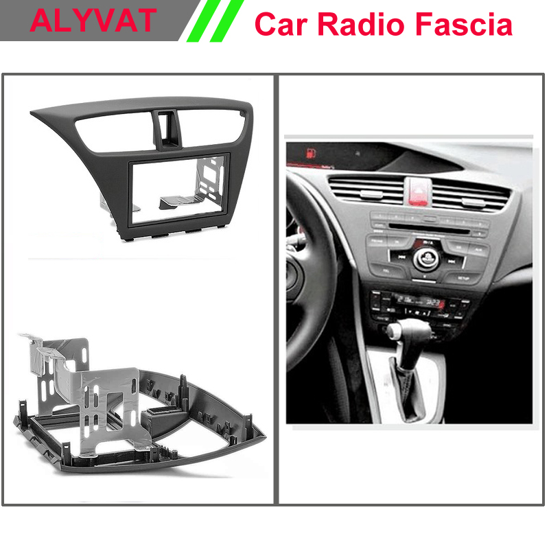 Car Radio Frame Fascia for HONDA Civic Hatchback 2012+ (Left Wheel) Car radio stereo face facia surround trim frame 2din car fascia for hyundai i 20 i20 i 20 manual ac radio dvd stereo gps panel dash mount trim kit face plate bezel facia 5148