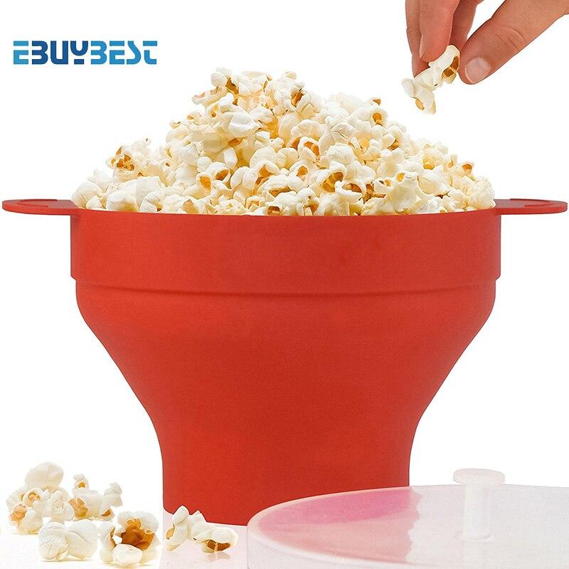 Haute qualité Pop-Corn maker 290g DlY Pliable Silicone Micro-ondes Chaude Popper Bol pliage Silicone Popcorn seau