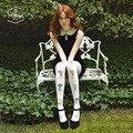 NOVIA SW-007 outono/inverno das mulheres novas calças justas de alta qualidade pintado bonito dos desenhos animados impressão 80D meia-calça de veludo