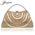 Mixed Color Women Evening  Bags Rhinestones Lady Messenger Chain Shoulder Bag Day Clutches Purse Bag For Wedding  Evening Bag