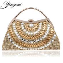 Mixed Color Women Evening  Bags Rhinestones Lady Messenger Chain Shoulder Bag Day Clutches Purse Bag For Wedding цена