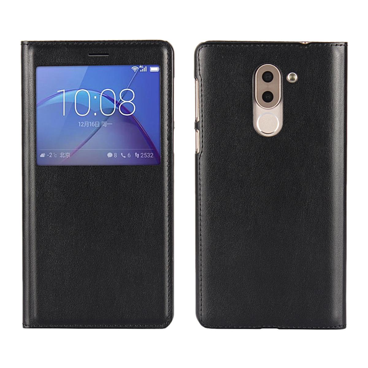 Ультратонкий защитный чехол в деловом стиле, чехол для телефона, откидной Чехол с окошком из искусственной кожи для Huawei Honor 6X / GR5 2017