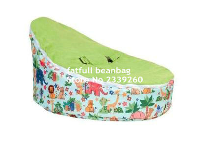 cover only no fillings safari green baby beanbag chair zoo kids bean bag - Childrens Bean Bag Chairs