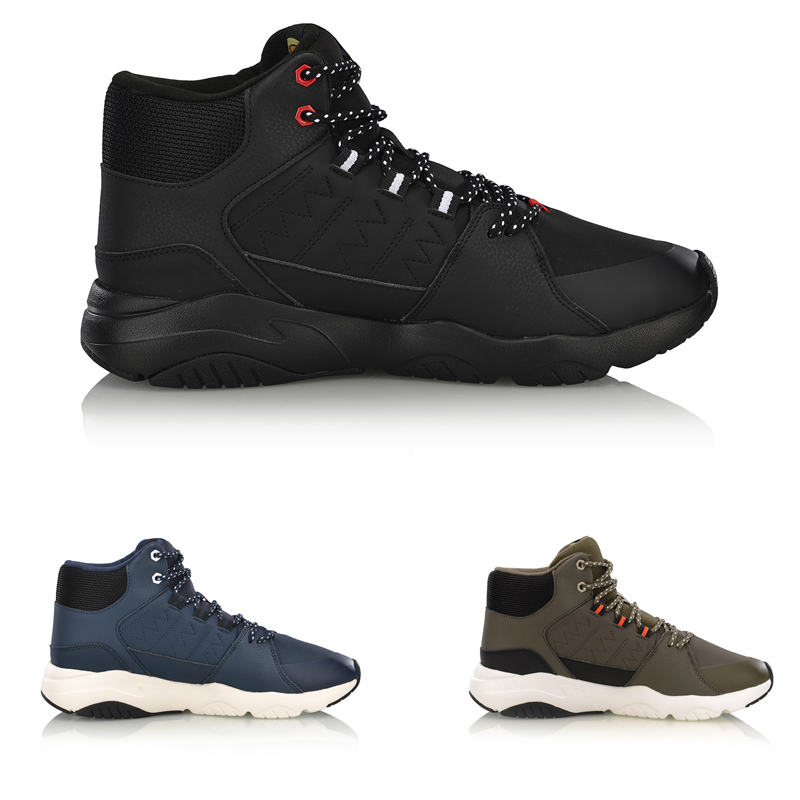 Li-Ning Men LN PIONEER Lifestyle Shoes Breathable Warm Fleece Wearable LiNing Comfort Sport Shoes Sneakers AGCN125 YXB235