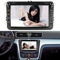 8 Inch Touch Screen Car DVD Multimedia Player 2Din Car Radio GPS Navigation BT for VW Volkswagen SAGITAR JETT PASSAT CC SKODA