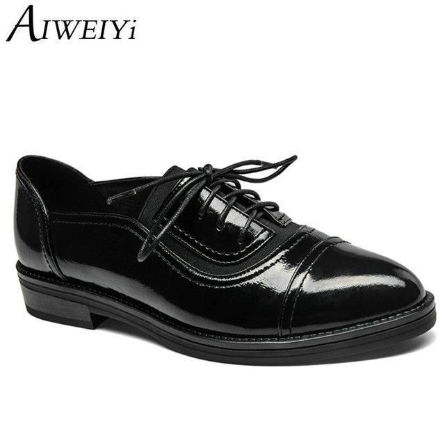 Chaussures à bout rond à lacets noires Casual femme g2GRKv