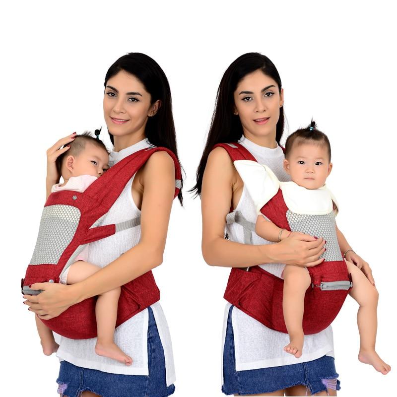 Sac à dos de transporteur ergonomique respirant porte-bébé Portable kangourou hipseat tas avec coussin de suce porte-bébé