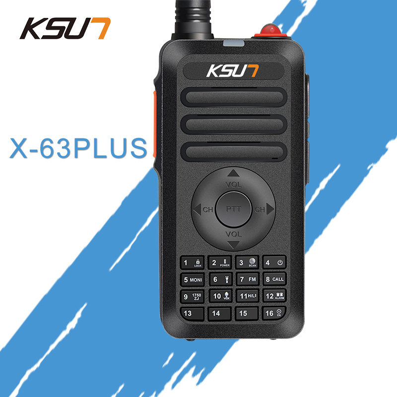(1PCS) KSUN X-63 PLUS Mini Walkie Talkie 400-470Mhz Frekvens UHF Radio tovejs radio 5w walkie talkie transceiver