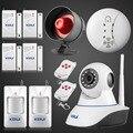 Kerui sistema de alarma de red inalámbrica wifi cámara ir cut ip camere CMOS HD 1MP de Seguridad CCTV Cámara IP nueva N62 con gritos de sirena