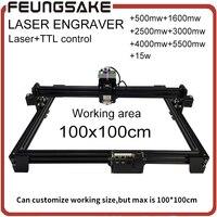 1m 1m Area 5000MW Big DIY Laser Engraving Machine 500mw 2500mw 3000mw Diy Marking Machine Diy
