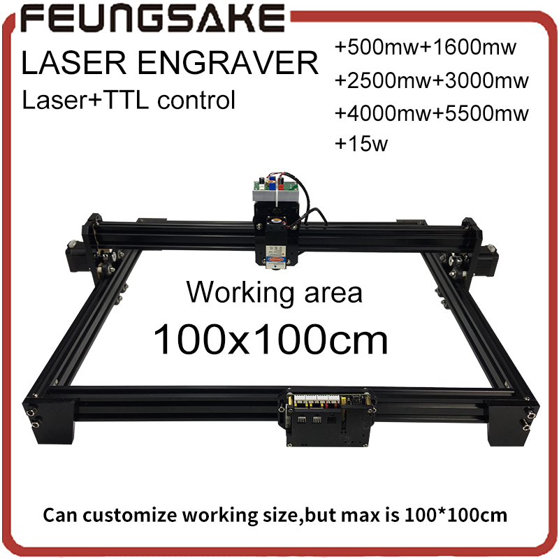 15w font b laser b font with TTL control 1 1m big area 5500mw DIY font