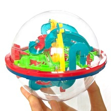 3D האינטלקט פאזל כדור מבוך משחק לילדים חינוכיים מתכת צעצוע עץ למידה יצירתיות לילדים 1 3 בני בנות תינוק