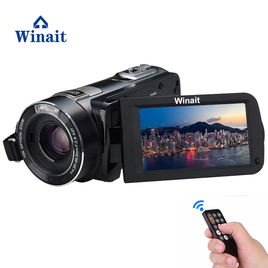 Winait full hd 1080p digital camcorder with 30.'' touch display digital video camera and 120x digital zoom video free shipping