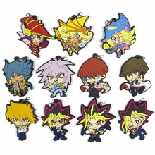 Yu-Gi-Oh! The Dark Side of Dimensions Rubber pendant Yugi Muto anime Action Toy Figures Mobile Phone Accessories strap Keychain classic game anime yu gi oh zexal official card game king of games yugi muto s dark magician girl sex 18cm action figure