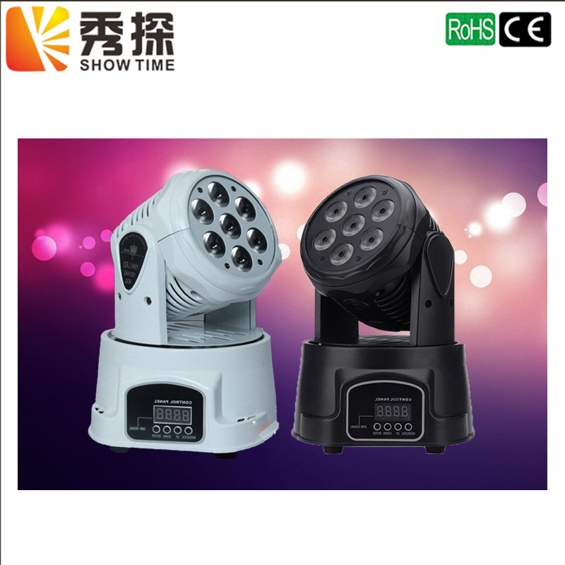 ShowTime High Quality LED Mini Moving Head Wash Light 7X12W RGBW Moving Heads 14 Channels DJ Nightclub Party Concert Stage Light 19 12w high power led rgbw wash light 16 channels ac90 240v moving head light professional stage