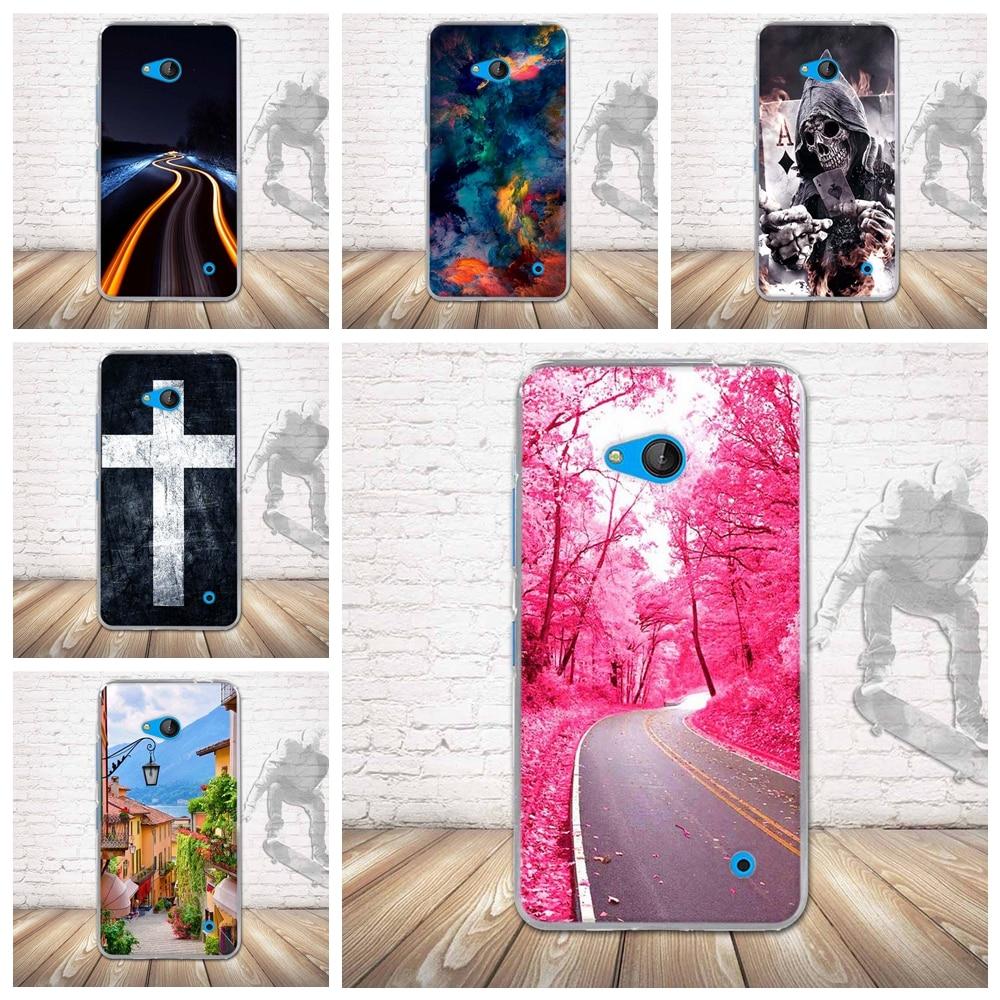 ⑤Lujo 3D alivio imprimir volver caso para Nokia 640 casos suave TPU ...