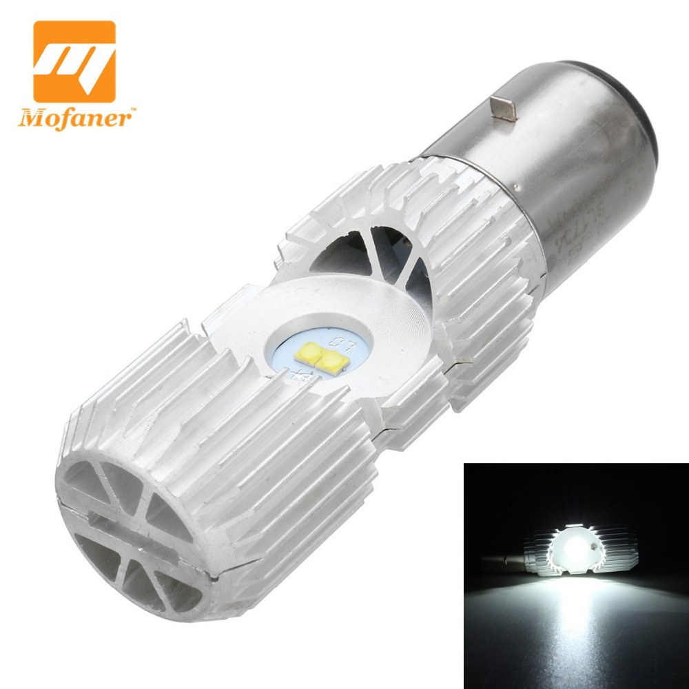 New 4 LED Scooter BA20D 20W Motorcycle Moped ATV Headlight Bulb Hi/Lo 6000K Motorbike Head Lamp майка print bar bart