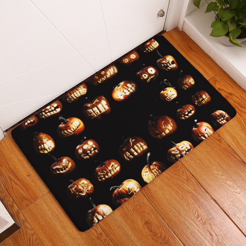 2017 new home decor halloween carpets non slip kitchen rugs for home living room floor - Halloween Rugs