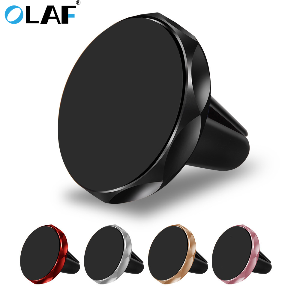 OLAF Rhombus Universal Magnetic Car Phone Holder For IPhone 6 7 8 Plus X Air Vent Mobile Phone Car Mount Stand Holder For Xiaomi