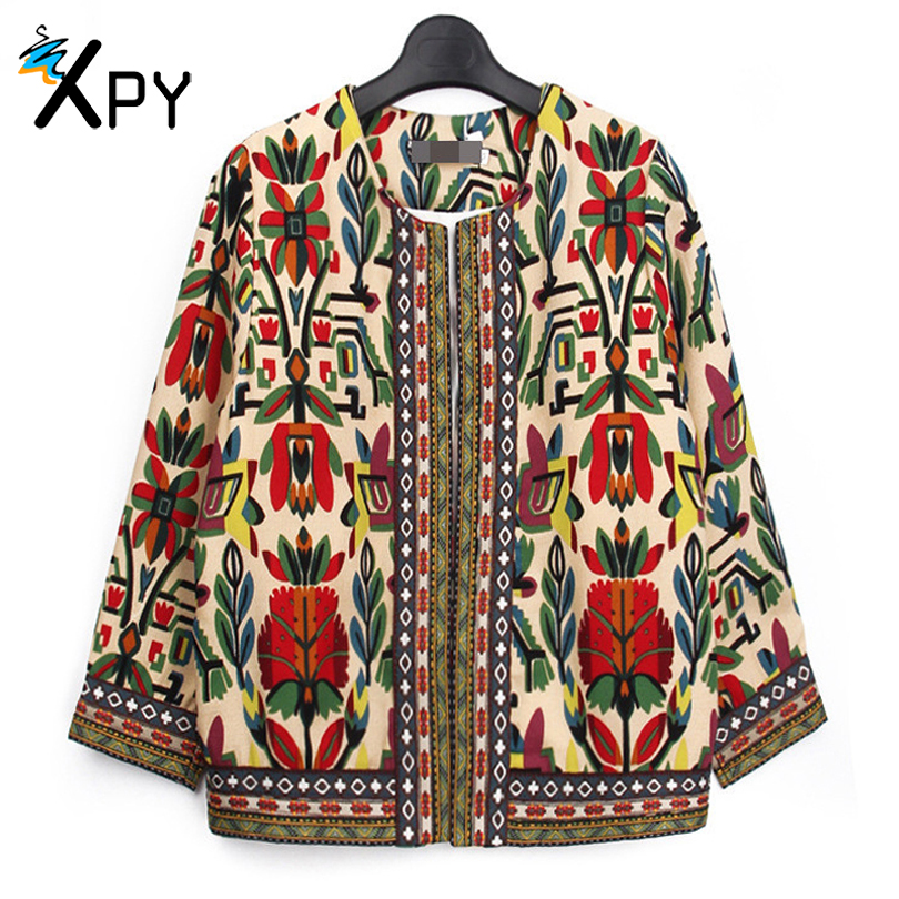 2017 Fashion Women font b Jacket b font Spring And Summer new retro High quality print