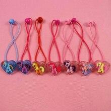2 Styles Cute 7pcs/lot My Little Girls Ponys Cartoon Headwear Elastic Hair Bands Fashion Baby Accessories