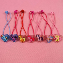 2 Styles Cute 7pcs/lot My Cute little Unicorn Cartoon Headwear Elastic Hair Bands Fashion Cartoon Accessories