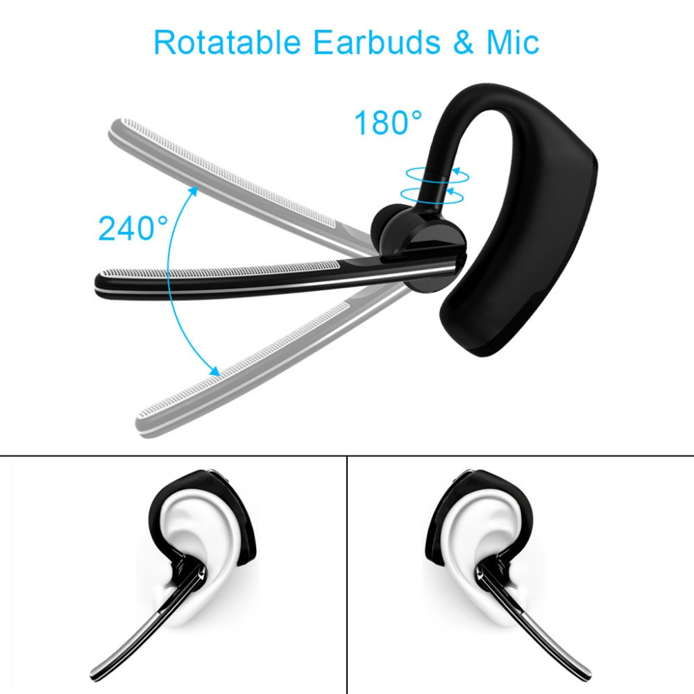 003Business Bluetooth Earphone Wireless Handsfree Bluetooth V4.1 Headset With Microphone Headphone Voice For Iphone Sumsung Android (0)