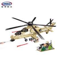 XINGBAO 06025 The WZ10 Helicopter Set Military Series Building Blocks Bricks Compatible With LegoINGlys Military Christmas Gifts