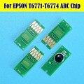 2 Set T677 Con 4 PZ T6710 Chip Per Epson WorkForce Pro WP-4530/4540/4092/4511/4521/4531/4025/4015/4515 Stampante Manutenzione
