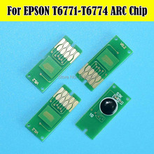 2 Set T677 With 4PC T6710 Chips For Epson WorkForce Pro WP-4530/4540/4011/4511/4521/4531/4025/4015/4515 Printer Maintenance sm t677