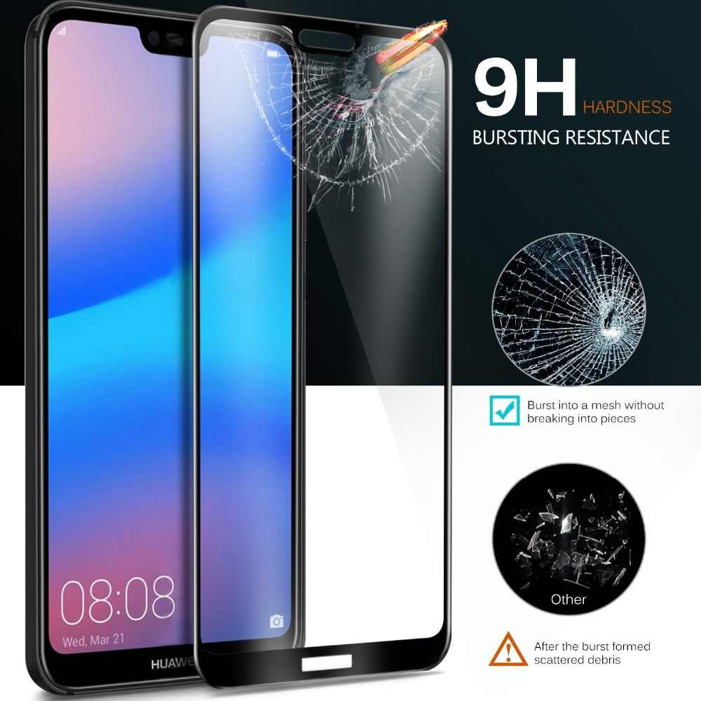 Full Cover Screen Protector Tempered glass For Huawei P20 Honor 9 8 Pro P8 Mate 10 P9 Lite Mini 2017 P Smart P20 Lite Glass Film