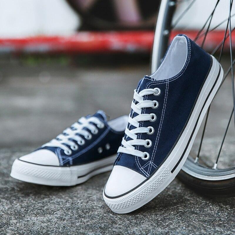 Летняя парусиновая обувь женские/мужские модные кроссовки хит продаж унисекс туфли из вулканизованной парусины Tenis Feminino размера плюс 35 44|Кроссовки и кеды|   | АлиЭкспресс