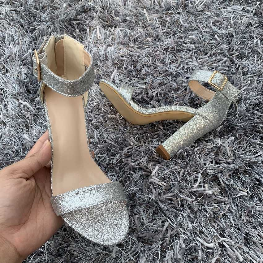 2019 Summer Women Sandals Sexy High Heels sandals Ankle Strap Women Shoes Peep Toe High Heels Party Wedding Shoes Woman