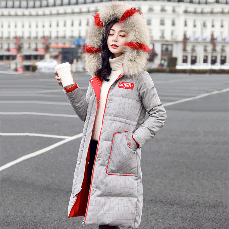 Winter jacket women 2019 New female parka   coat   feminina long   down   jacket plus size long hooded duck   down     coat   jacket Women LU635