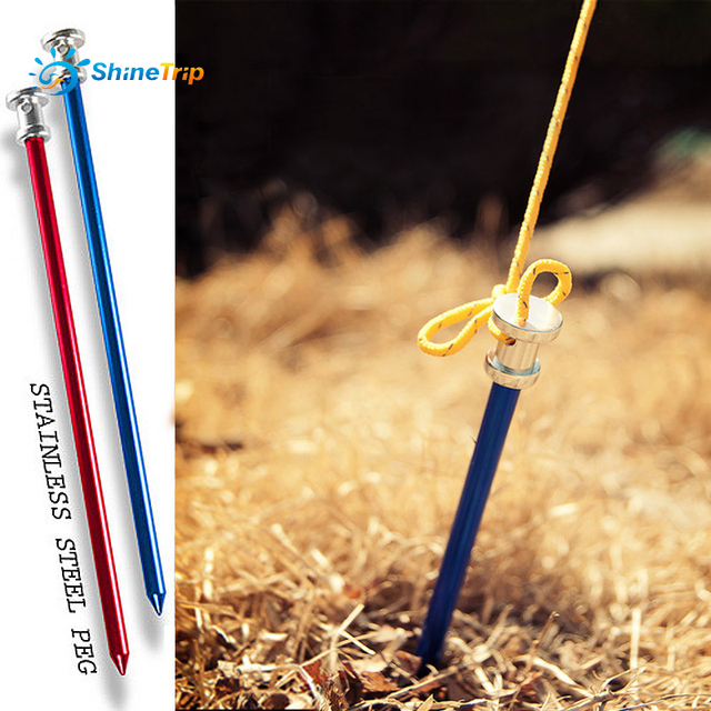 ShineTrip 4Pcs Big Tents Nail multi-purpose Tent Peg Nail C&ing Equipment Outdoor Traveling Tent & ShineTrip 4Pcs Big Tents Nail multi purpose Tent Peg Nail Camping ...