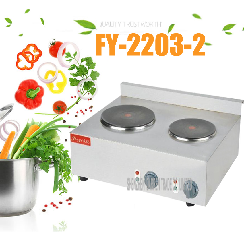 все цены на 1PC The Best Commercial Double Hot Plate for Cooking Electric Stove 2 Burners Stainless Steel Two Hotplates 220-240V онлайн